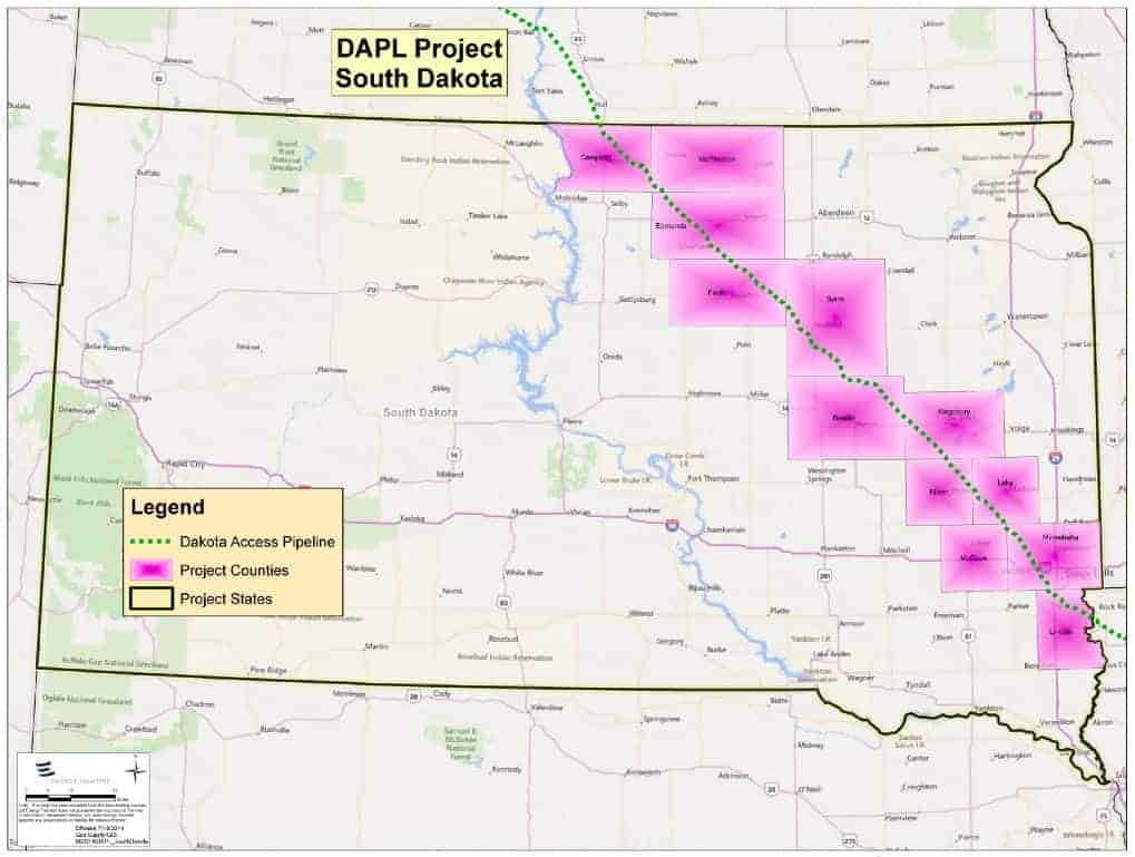dakota access pipeline proposed route