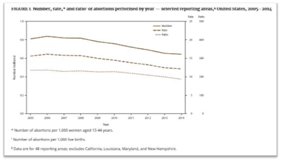 CDC Figure of abortion rate metrics
