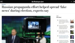 Washington Post's Russian Fake News Propaganda Article