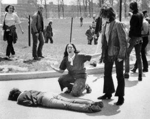 Pic of dead student on the ground on Kent State campus