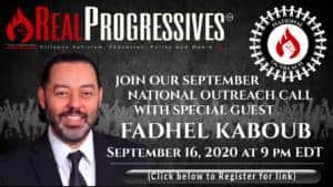 picture of Fadhel Kaboub for September's National Outreach Call