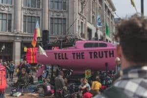 "Boat with ""Tell the Truth"" on it"