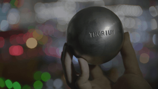 thorium on a metal ball