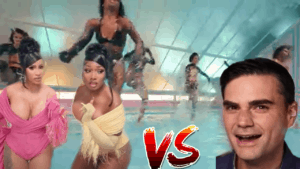 Picture of Meghan Da Stallion and Cardi B vs Ben Shapiro