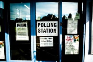 Picture of a polling station