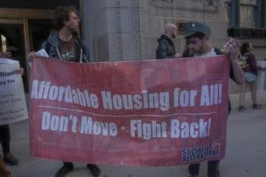 A Sign saying Affordable Housing for All
