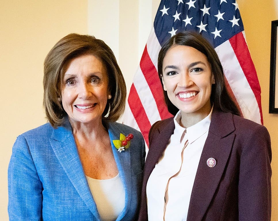 Picture of Nancy Pelosi and Alexandria Ocasio Cortez