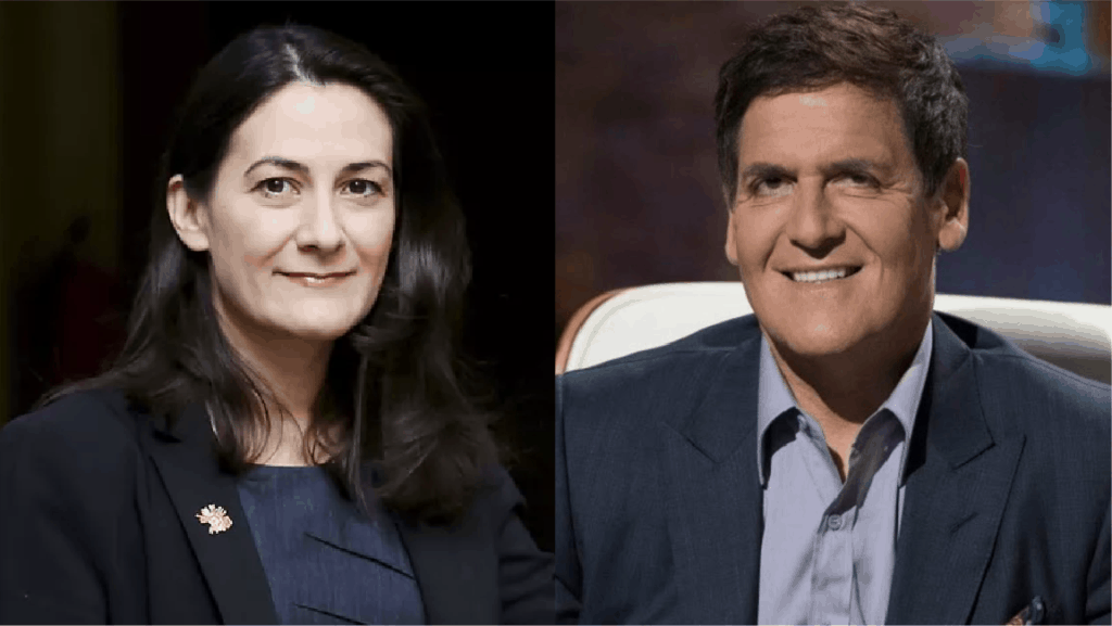 Picture of Pavlina Tcherneva and Mark Cuban
