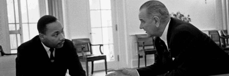 Dr King and President Johnson