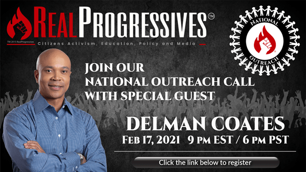 National Outreach Call, Delman Coates