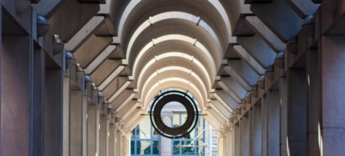 view of architecture inside federal reserve bank