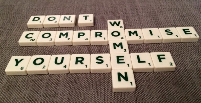 Don't Compromise Yourself you are all you've got in Scrabble tiles