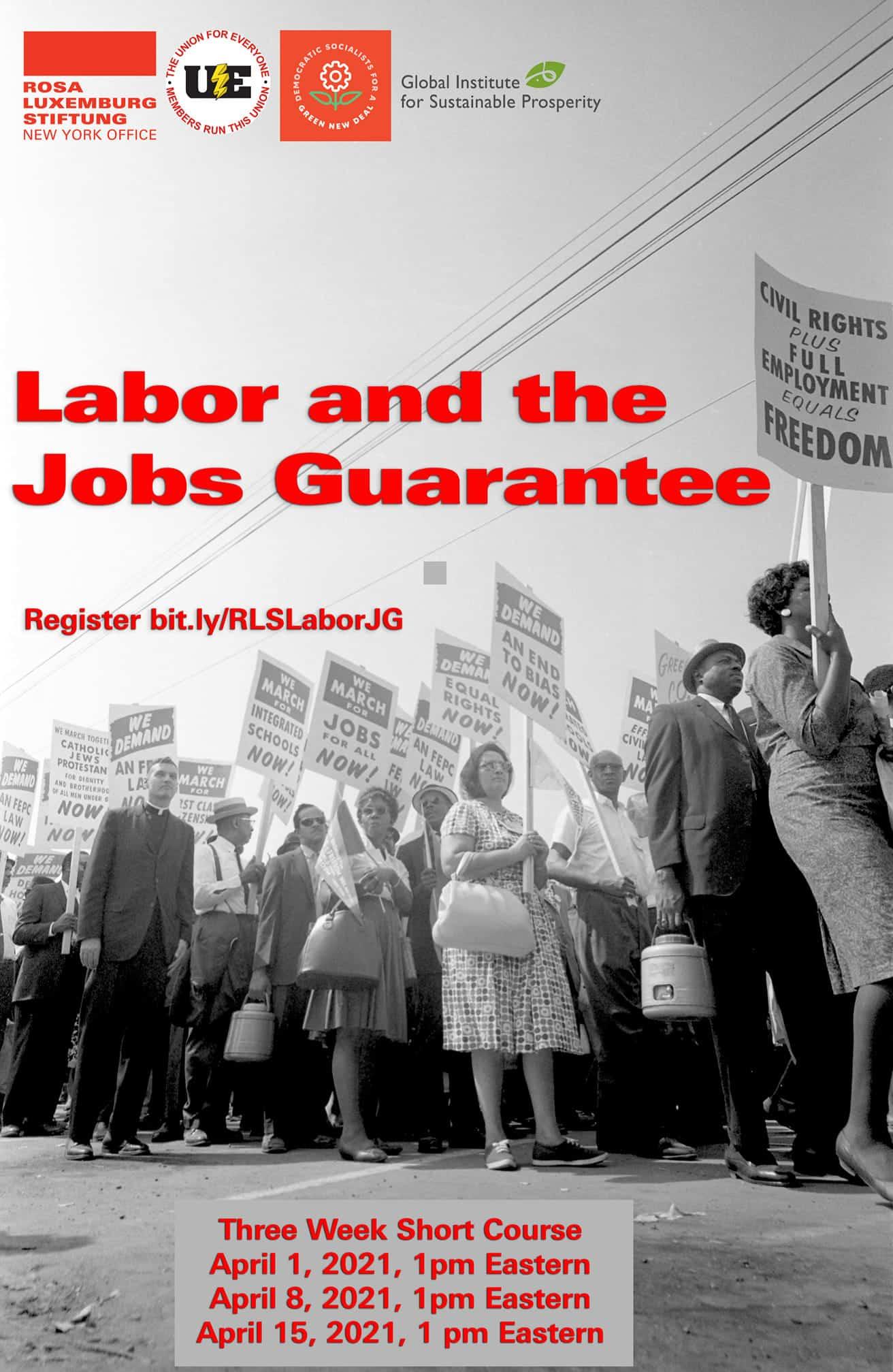 Labor and the Jobs Guarantee short course brochure