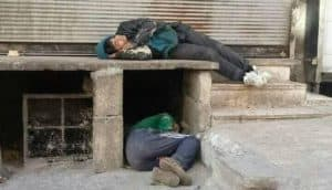 Homeless people in Syria
