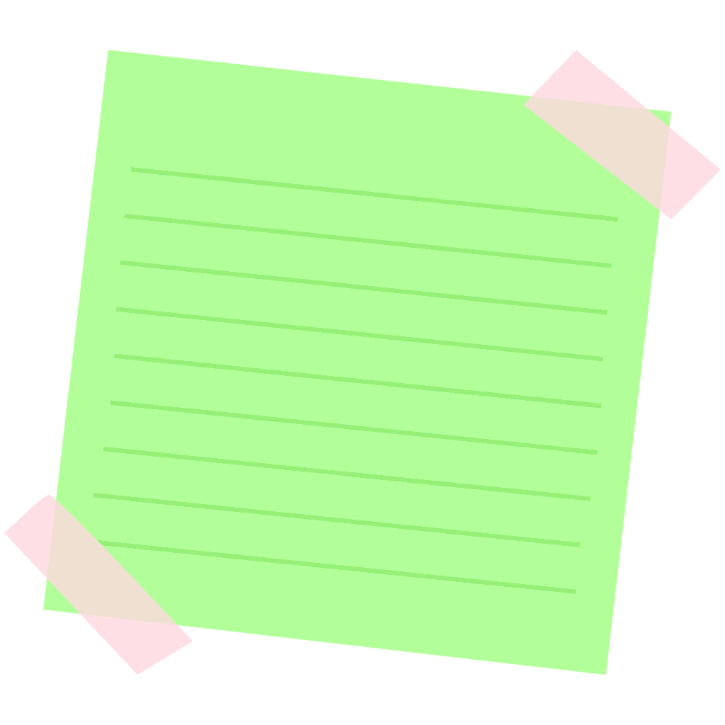 lime green sticky note