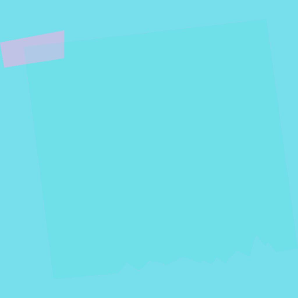 light blue sticky note