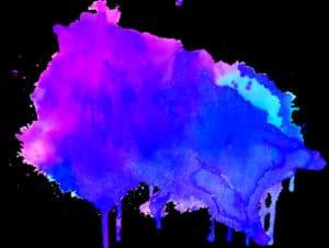 blue purple blob of paint