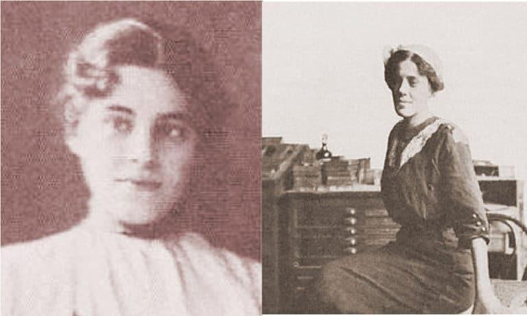2 photos of Mary Marcy