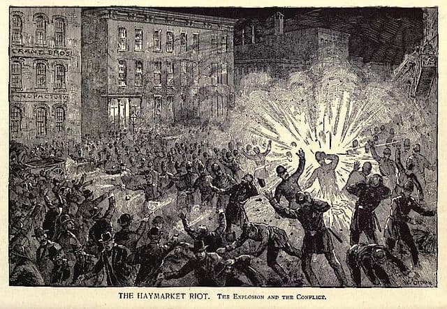 Explosion that set off the Haymarket Riot in 1886