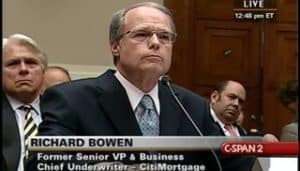 Richard Bowen testifying before Congress