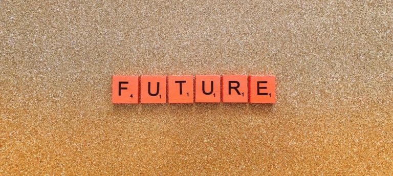 Future spelled using Scrabble tiles