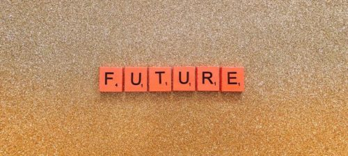 Future spelled using Scrabble tiles