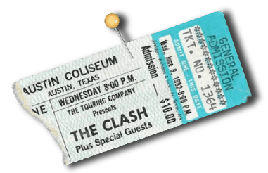ticket stub from The Clash