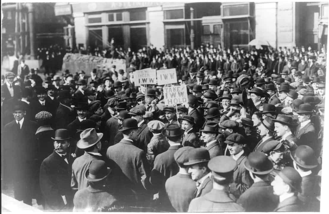 IWW demonstration NY 1914