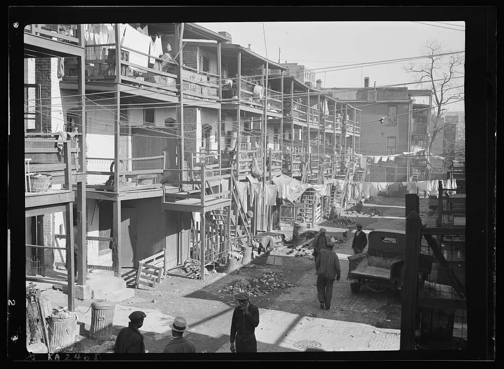 Picture of tenements from 100 years ago