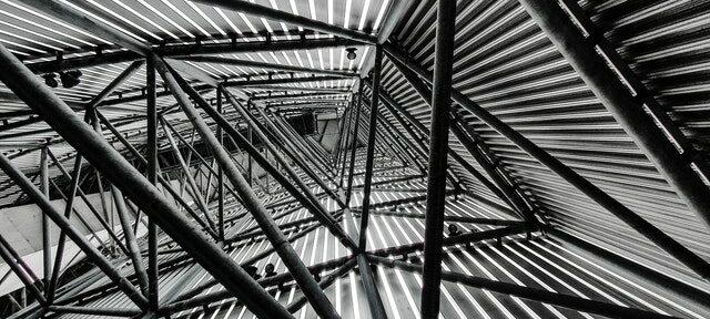 framework, modern building